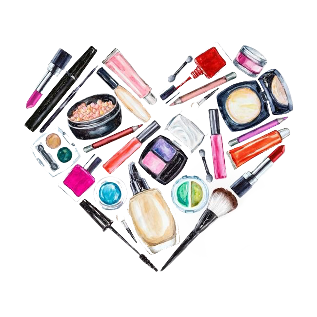 Make-up illustrator all over the web